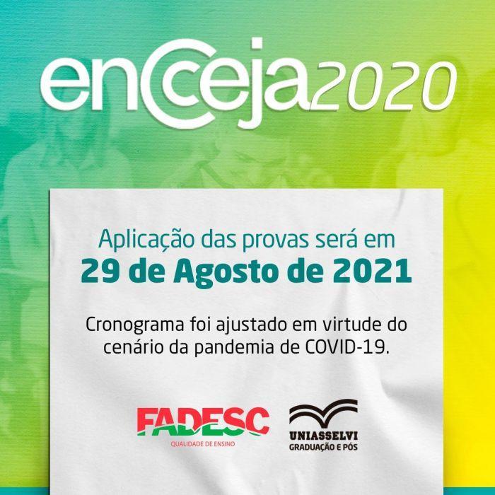 Enceja 2020: Aplicação das provas