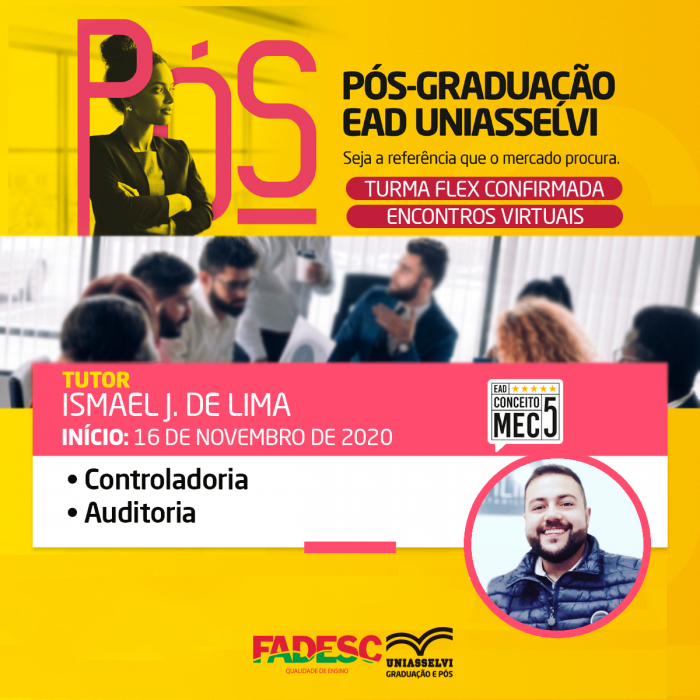 FADESC – Uniasselvi tem turma FLEX confirmada para pós-graduação.